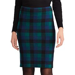 Women's Chaps Plaid Pencil Skirt