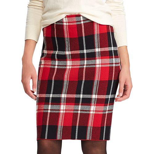 Women's Chaps Plaid Pencil Skirt