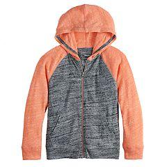 Boys 4-12 SONOMA Goods for Life™ Lightweight Knit Raglan Zip Hoodie