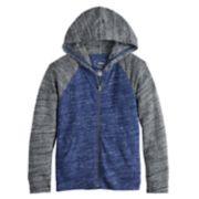 Boys 4-12 SONOMA Goods for Life? Lightweight Knit Raglan Zip Hoodie