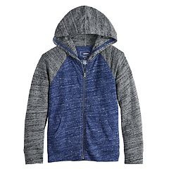 Boys 4-12 SONOMA Goods for Life™ Lightweight Knit Raglan Zip Hoodie
