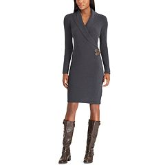 Women's Chaps Surplice Side-Buckle Dress