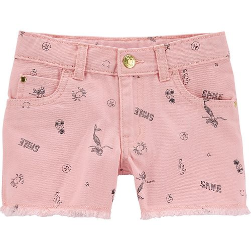 Girls 4-14 Carter's Mermaid Twill Shorts