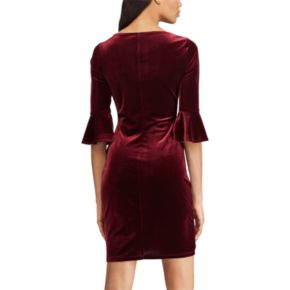Women's Chaps Velvet Off-the-Shoulder Shift Dress