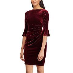 Women's Chaps Velvet Off-the-Shoulder Shift Dress