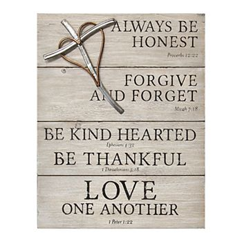 Stratton Home Decor Religious Sign With Cross Wall