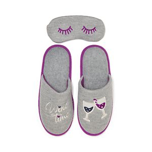 73f96b2fe4a Girls 4-16 Elli by Capelli Kitty Cat Slipper   Eye Mask Set