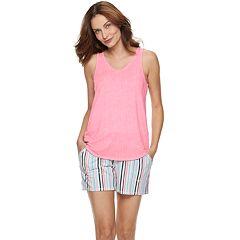 ba82284a1f4 Women s Croft   Barrow® Lush Luxe Sleep Tank and Pajama Shorts Set