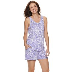 b2263a2e5b35 Women s Croft   Barrow® Lush Luxe Sleep Tank and Pajama Shorts Set