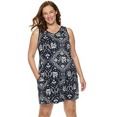 Plus Size Croft & Barrow® Lush Luxe Sleep Tank and Pajama Shorts Set