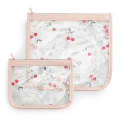 LC Lauren Conrad Cherry Cosmetic Bag Set
