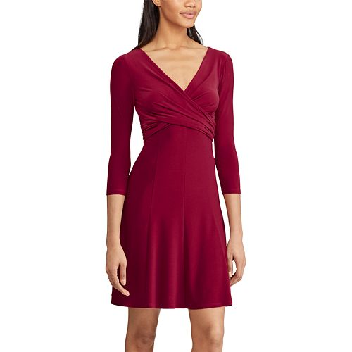 Women's Chaps Crossover Fit & Flare Dress