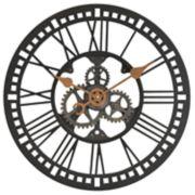FirsTime & Co. Roman Gear Industrial Wall Clock