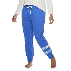 Plus Size SO® Double Stripe Banded Bottom Sleep Pants