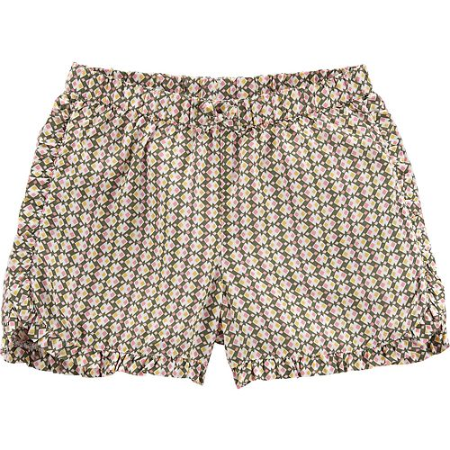 Girls 4-12 Carter's Print Ruffle Shorts