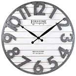 FirsTime & Co. Sawyer Planked Farmhouse Wall Clock