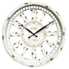 FirsTime & Co. Whitney Shabby Chic Wall Clock