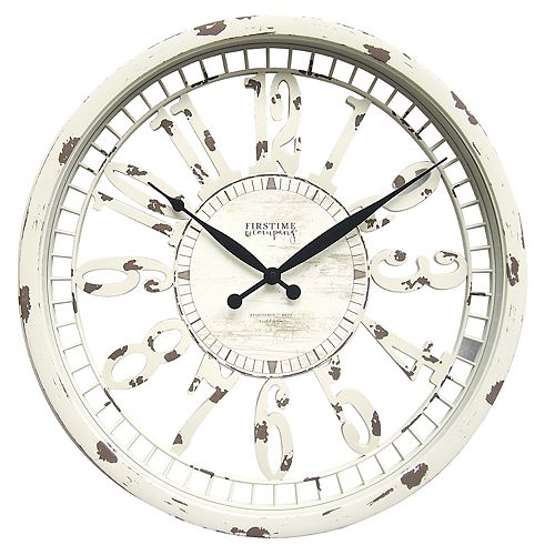 a4785d070 FirsTime   Co. Whitney Shabby Chic Wall Clock