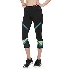 Women's FILA SPORT® Filament Trim Mesh High-Waisted Capri Leggings