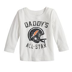 Baby Boy Jumping Beans® 'Daddy's All-Star' Football Helmet Softest Graphic Tee