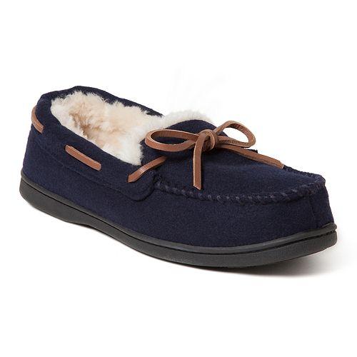 Women's Dearfoams Wool Moccasin Slippers