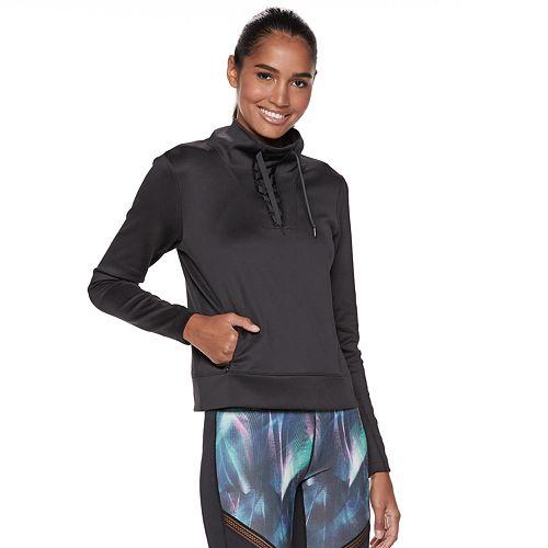 Women's FILA SPORT® Lace-Up Mockneck Pullover Top
