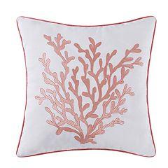 Oceanfront Resort Cove Throw Pillow