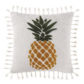 Oceanfront Resort Pineapple Throw Pillow
