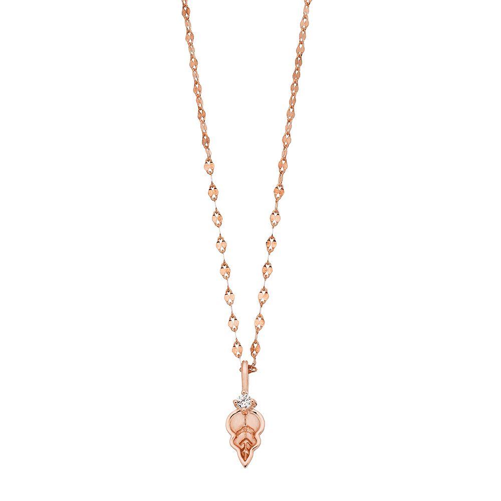 LC Lauren Conrad Leaf Lab-Created White Sapphire Pendant Necklace