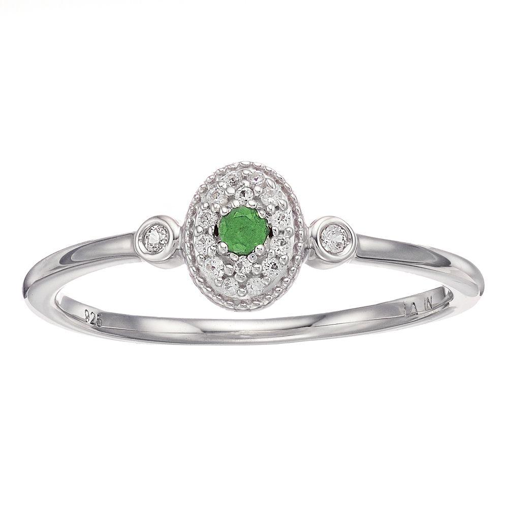 LC Lauren Conrad Sterling Silver Gemstone Oval Ring