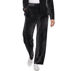 Women's Croft & Barrow® Straight-Leg Velour Pants