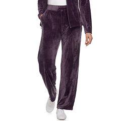 Women's Croft & Barrow® Straight-Leg Velour Pants