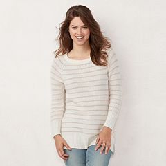 Women's LC Lauren Conrad Striped Tunic Sweater