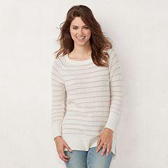 Women's LC Lauren Conrad Striped Tunic Sweater