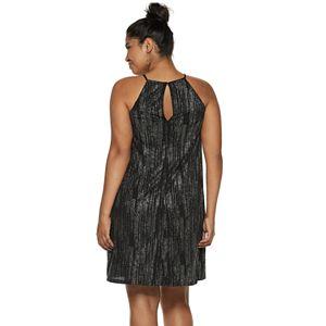 Juniors' Plus Size Candie's® Pleated Halter Swing Dress