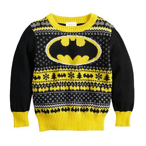 Toddler Boy Jumping Beans® DC Comics Batman Holiday Knit Sweater
