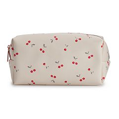 LC Lauren Conrad Cherry Canvas Cosmetic Bag
