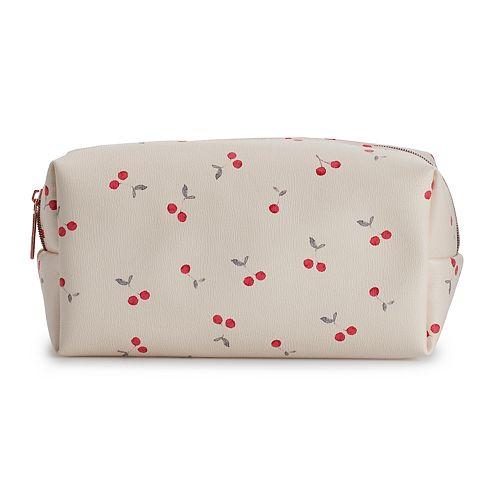 Lc Lauren Conrad Cherry Canvas Cosmetic Bag