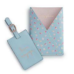LC Lauren Conrad 'bon voyage' & 'going places' Passport Case & Luggage Tag Set