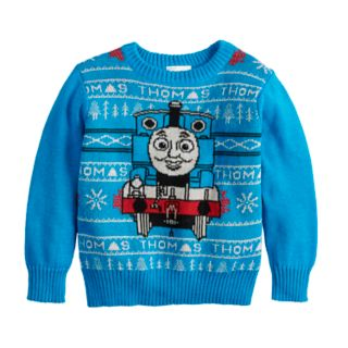 Toddler Boy Jumping Beans® Thomas the Train Holiday Knit Sweater