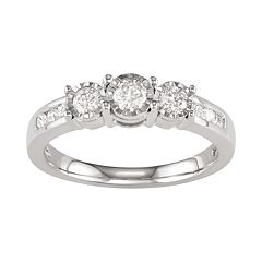 10k White Gold 1/2 Carat T.W. Diamond Ring