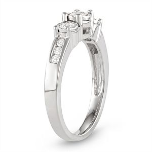 10k White Gold 1/2 Carat T.W. Diamond Ring