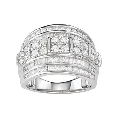 10k White Gold 2 Carat T.W. Diamond Ring