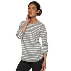 Women's Croft & Barrow® Button-Hem Sweater