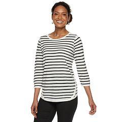 Women's Croft & Barrow® Button-Hem Sweater