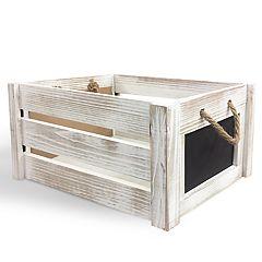 SOHO Market Chalkboard Wooden Crate