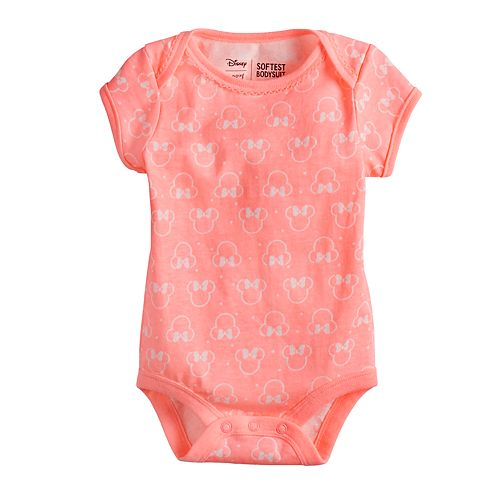 Disney's Minnie Mouse Baby Girl Print Bodysuit by Jumping Beans®