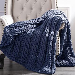 Cottage Lane Chunky Knit Throw