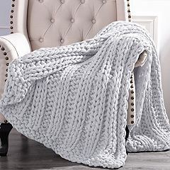 Cottage Lane Chunky Knit Throw