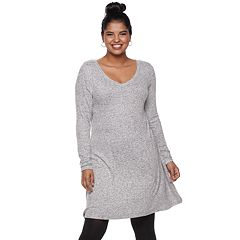 Juniors' Plus Size SO® Long Sleeve Swing Dress